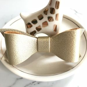 ☀️ 4 for $12 Gold Vegan Leather Hair Bow